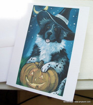 NOTE CARDS · HAPPY HALLOWEEN · LANDSEER NEWFOUNDLAND · AMY BOLIN