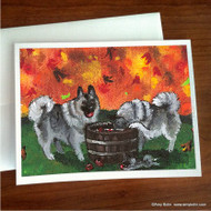 NOTE CARDS · BOBBING FOR APPLES · NORWEGIAN ELKHOUND · AMY BOLIN