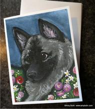 NOTE CARDS · MOM'S FAVORITE DAISY · NORWEGIAN ELKHOUND · AMY BOLIN
