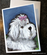 NOTE CARDS · ALL GUSSIED UP · OLD ENGLISH SHEEPDOG · AMY BOLIN
