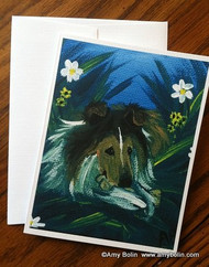 NOTE CARDS · A SECRET TREAT · SABLE SHELTIE · AMY BOLIN