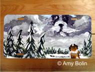 LICENSE PLATE · FIRST SNOW ·  SAINT BERNARD · AMY BOLIN