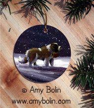 CERAMIC ORNAMENT · A RAY OF HOPE · SAINT BERNARD · AMY BOLIN