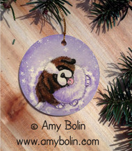 CERAMIC ORNAMENT · A TASTE OF WINTER · SAINT BERNARD · AMY BOLIN