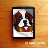 TRIFOLD WALLET · BREAK TIME ·  SAINT BERNARD · AMY BOLIN