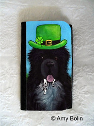 LARGE ORGANIZER WALLET · A BIG, WET IRISH KISS ·  IRISH SPOTTED NEWFOUNDLAND · AMY BOLIN