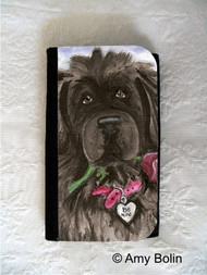 LARGE ORGANIZER WALLET · BE MINE   · BLACK NEWFOUNDLAND · AMY BOLIN