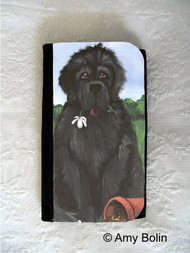 LARGE ORGANIZER WALLET · I SAW THIS FLOWER & THOUGHT OF YOU · BLACK NEWFOUNDLAND · AMY BOLIN