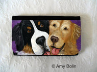 LARGE ORGANIZER WALLET · BE MINE  · BERNESE MOUNTAIN DOG, GOLDEN RETRIEVER · AMY BOLIN