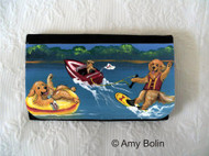 LARGE ORGANIZER WALLET · GOLDENS ON THE LAKE  · GOLDEN RETRIEVER · AMY BOLIN