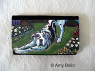 LARGE ORGANIZER WALLET · HARLEQUIN GARDEN · GREAT DANE · AMY BOLIN
