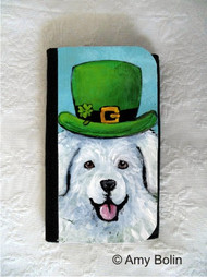 LARGE ORGANIZER WALLET · A BIG, WET IRISH KISS · GREAT PYRENEES · AMY BOLIN