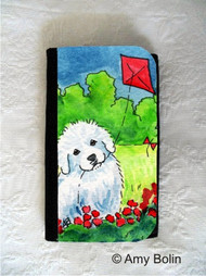 LARGE ORGANIZER WALLET · FLY AWAY · GREAT PYRENEES · AMY BOLIN