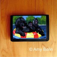TRIFOLD WALLET · DOG DAYS · BLACK NEWFOUNDLAND · AMY BOLIN