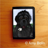 TRIFOLD WALLET · I SAW THIS FLOWER & THOUGHT OF YOU · BLACK NEWFOUNDLAND · AMY BOLIN