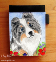 NOTEBOOKS (SEVERAL SIZES AVAILABLE) · PUPPY LOVE · BLUE MERLE SHELTIE · AMY BOLIN