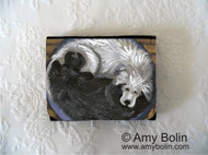 SMALL ORGANIZER WALLET · YIN YANG · GREAT PYRENEES, NEWFOUNDLAND · AMY BOLIN