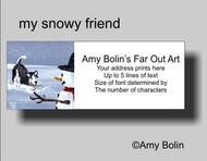 ADDRESS LABELS · MY SNOWY FRIEND (BLACK) (BLUE EYES) · HUSKIES & MALAMUTES · AMY BOLIN