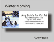 ADDRESS LABELS · WINTER MORNING (BROWN EYES) · HUSKIES & MALAMUTES · AMY BOLIN