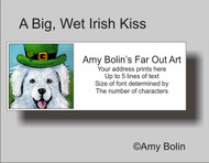 ADDRESS LABELS · A BIG, WET IRISH KISS · GREAT PYRENEES · AMY BOLIN