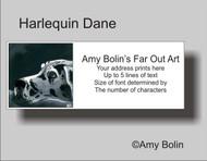 ADDRESS LABELS · HARLEQUIN DANE · GREAT DANE · AMY BOLIN