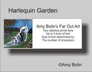 ADDRESS LABELS · HARLEQUIN GARDEN · GREAT DANE · AMY BOLIN