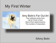 ADDRESS LABELS · MY FIRST WINTER · GREAT DANE · AMY BOLIN