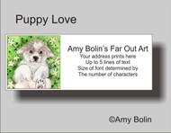 ADDRESS LABELS · PUPPY LOVE · GREAT PYRENEES · AMY BOLIN