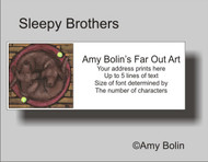 ADDRESS LABELS · SLEEPY BROTHERS · CHOCOLATE LABS · AMY BOLIN