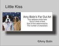 ADDRESS LABELS · LITTLE KISS · MASTIFF, SAINT BERNARD · AMY BOLIN
