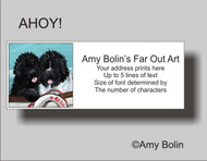 ADDRESS LABELS · AHOY! · BLACK & LANDSEER NEWFOUNDLAND · AMY BOLIN