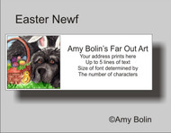 ADDRESS LABELS · EASTER NEWF · BLACK NEWFOUNDLAND · AMY BOLIN
