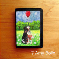 TRIFOLD WALLET · FLY AWAY   · BERNESE MOUNTAIN DOG    · AMY BOLIN