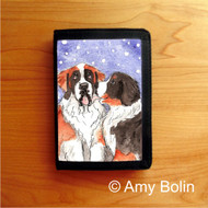 TRIFOLD WALLET · LITTLE KISS · BERNESE MOUNTAIN DOG, SAINT · AMY BOLIN