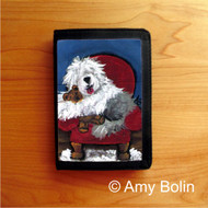 TRIFOLD WALLET · JUST ME & TED   · OLD ENGLISH SHEEPDOG    · AMY BOLIN