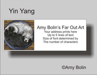 ADDRESS LABELS · YIN YANG · GREAT PYRENEES, NEWFOUNDLAND · AMY BOLIN
