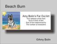 ADDRESS LABELS · BEACH BUM · NORWEGIAN ELKHOUND · AMY BOLIN