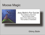 ADDRESS LABELS · MOOSE MAGIC · NORWEGIAN ELKHOUND · AMY BOLIN