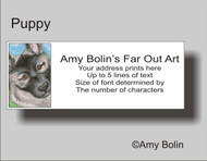 ADDRESS LABELS · PUPPY · NORWEGIAN ELKHOUND · AMY BOLIN
