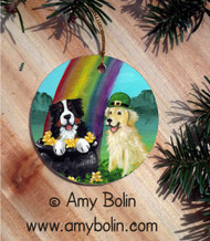 CERAMIC ORNAMENT · MY POT O' GOLD · BERNESE MOUNTAIN DOG · AMY BOLIN