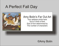 ADDRESS LABELS · A PERFECT FALL DAY · SABLE SHELTIE · AMY BOLIN
