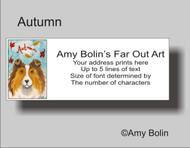ADDRESS LABELS · AUTUMN · SABLE SHELTIE · AMY BOLIN