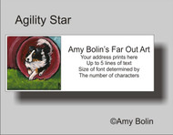 ADDRESS LABELS · AGILITY STAR · TRI COLOR SHELTIE · AMY BOLIN