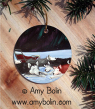 CERAMIC ORNAMENT · SWEET DREAMS   ·  ALASKAN MALAMUTE · AMY BOLIN