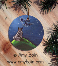 CERAMIC ORNAMENT · MOOSE MAGIC · NORWEGIAN ELKHOUND · AMY BOLIN