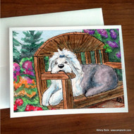 NOTE CARDS · SUMMER'S SIMPLE PLEASURES · OLD ENGLISH SHEEPDOG · AMY BOLIN