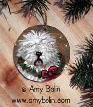 CERAMIC ORNAMENT · CHRISTMAS TRADITIONS · OLD ENGLISH SHEEPDOG · AMY BOLIN