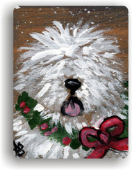MAGNET · CHRISTMAS TRADITIONS · OLD ENGLISH SHEEPDOG · AMY BOLIN
