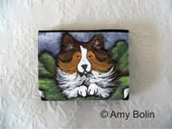 SMALL ORGANIZER WALLET · AGILITY QUEEN · SABLE SHELTIE · AMY BOLIN