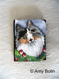 SMALL ORGANIZER WALLET · ELLA · BI BLUE SHELTIE · AMY BOLIN